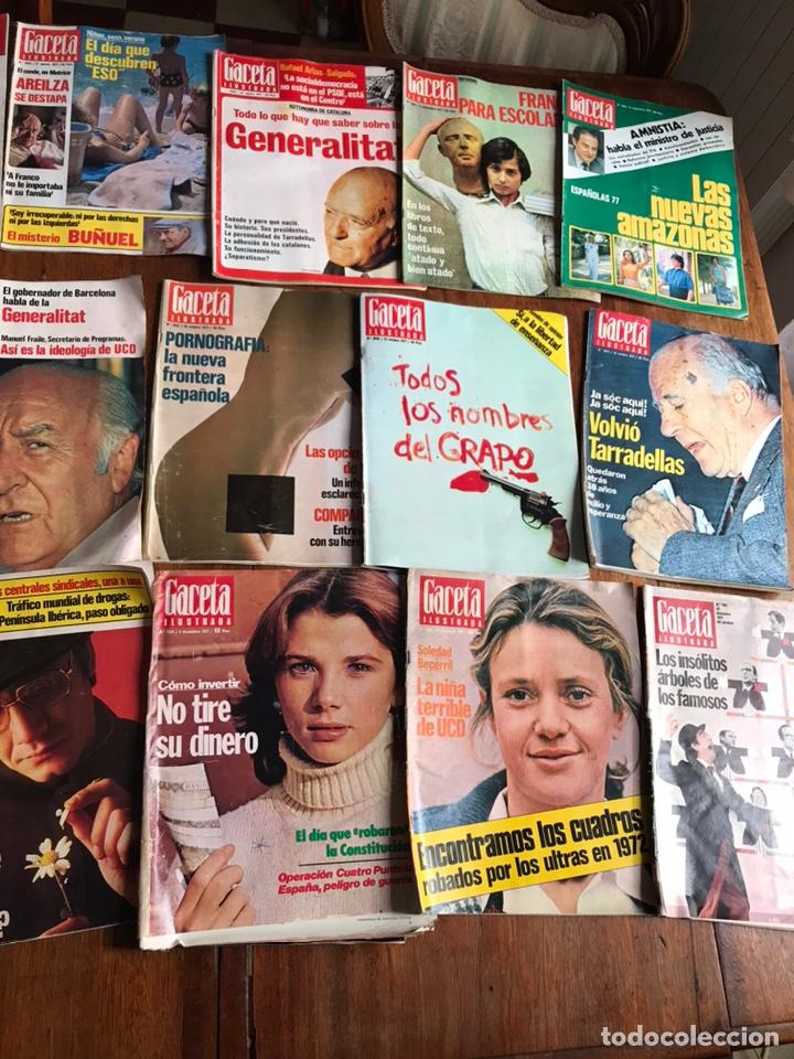 Coleccionismo de Revista Gaceta Ilustrada: Lote de 43 revistas Gaceta Ilustrada 1977 - Foto 8 - 223818097
