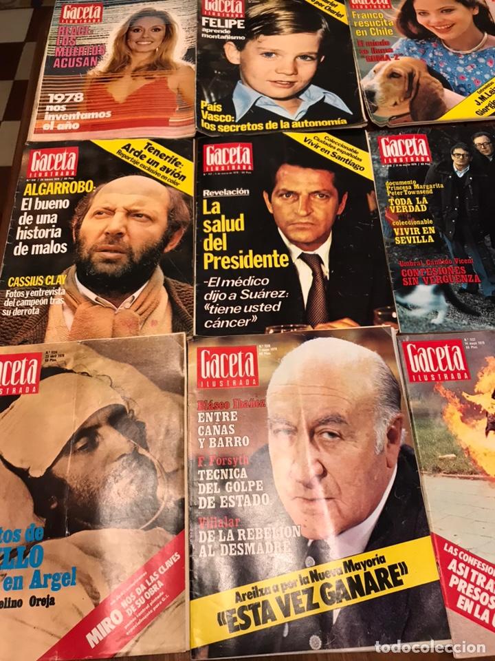 Coleccionismo de Revista Gaceta Ilustrada: Lote de 45 revistas Gaceta Ilustrada 1978 - Foto 2 - 223826937
