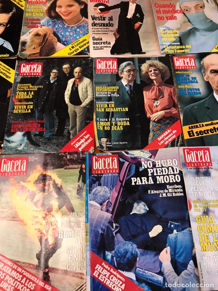 Coleccionismo de Revista Gaceta Ilustrada: Lote de 45 revistas Gaceta Ilustrada 1978 - Foto 3 - 223826937
