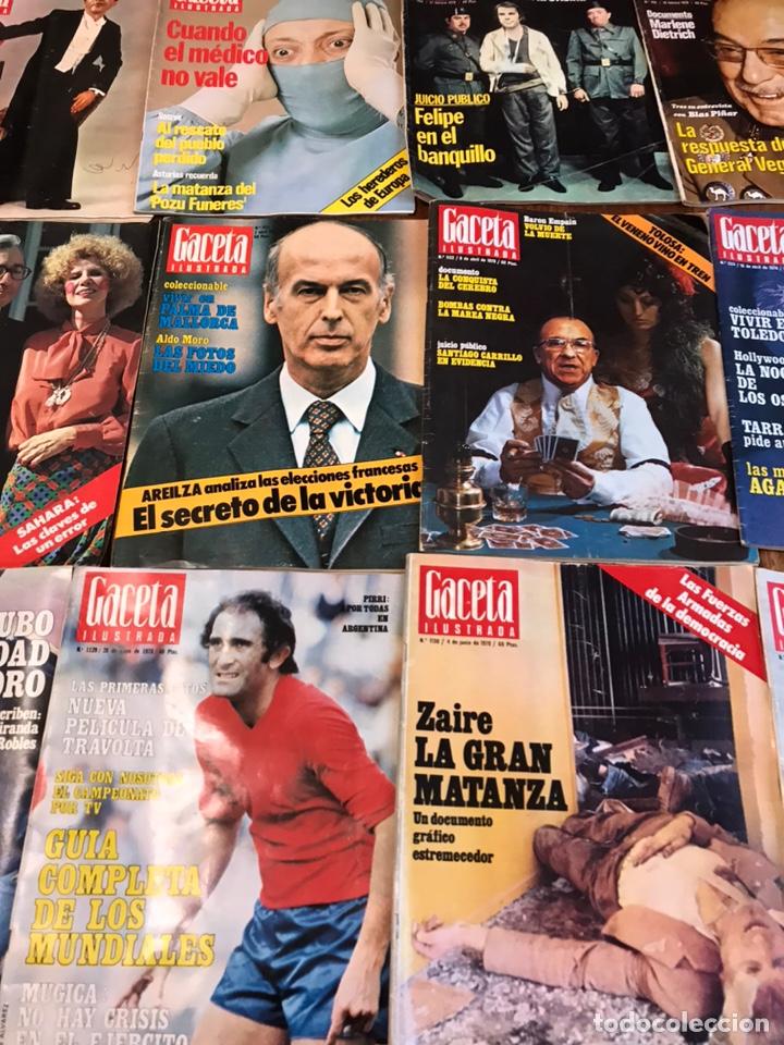 Coleccionismo de Revista Gaceta Ilustrada: Lote de 45 revistas Gaceta Ilustrada 1978 - Foto 4 - 223826937