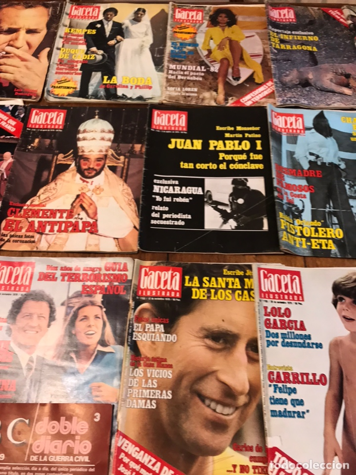 Coleccionismo de Revista Gaceta Ilustrada: Lote de 45 revistas Gaceta Ilustrada 1978 - Foto 10 - 223826937