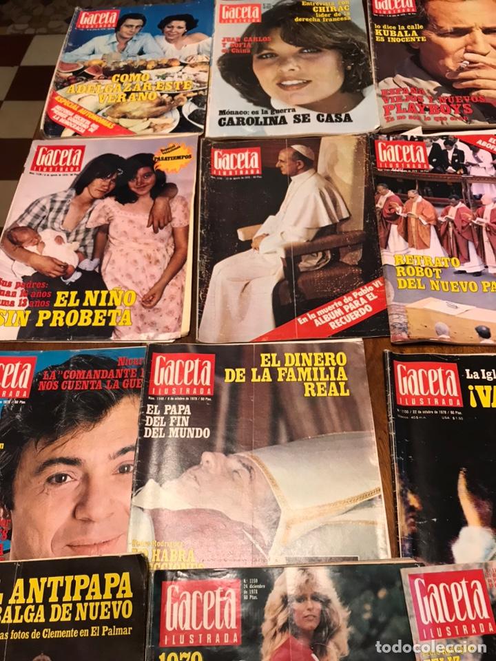Coleccionismo de Revista Gaceta Ilustrada: Lote de 45 revistas Gaceta Ilustrada 1978 - Foto 12 - 223826937