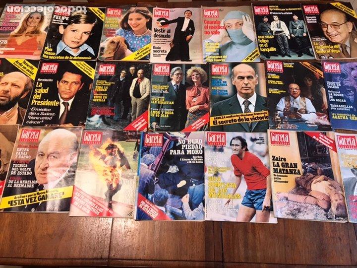 LOTE DE 45 REVISTAS GACETA ILUSTRADA 1978 (Coleccionismo - Revistas y Periódicos Modernos (a partir de 1.940) - Revista Gaceta Ilustrada)