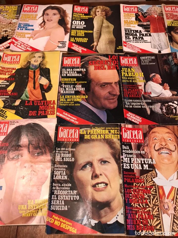 Coleccionismo de Revista Gaceta Ilustrada: Lote de 49 revista Gaceta Ilustrada 1979 - Foto 3 - 223834961