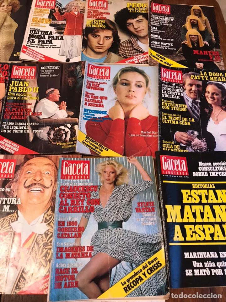 Coleccionismo de Revista Gaceta Ilustrada: Lote de 49 revista Gaceta Ilustrada 1979 - Foto 4 - 223834961