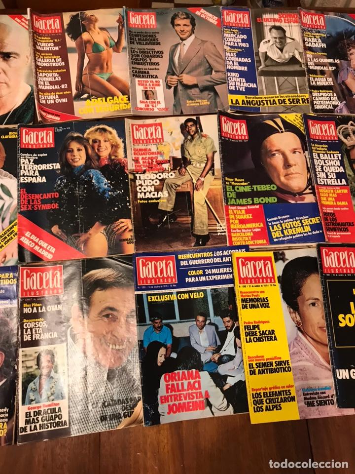 Coleccionismo de Revista Gaceta Ilustrada: Lote de 49 revista Gaceta Ilustrada 1979 - Foto 7 - 223834961