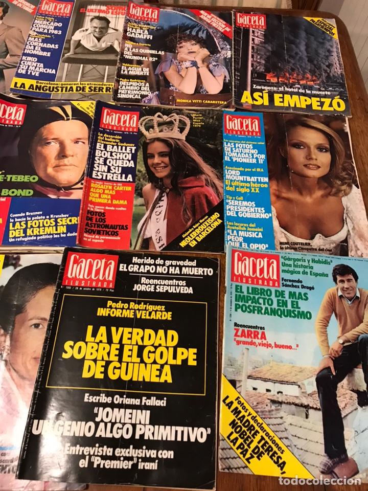 Coleccionismo de Revista Gaceta Ilustrada: Lote de 49 revista Gaceta Ilustrada 1979 - Foto 8 - 223834961