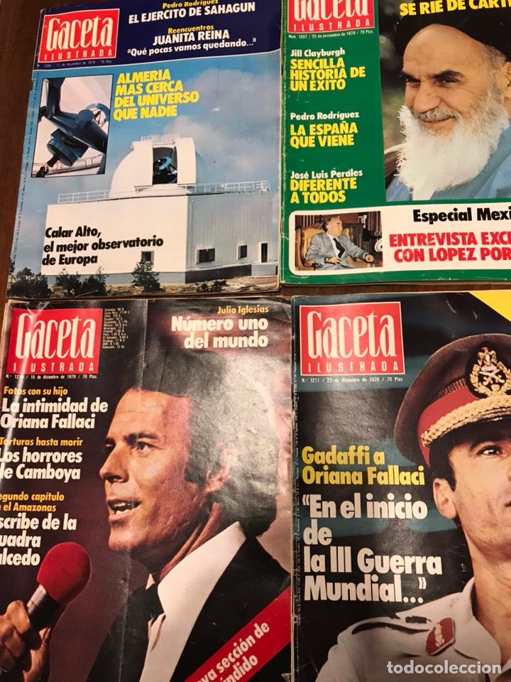 Coleccionismo de Revista Gaceta Ilustrada: Lote de 49 revista Gaceta Ilustrada 1979 - Foto 10 - 223834961