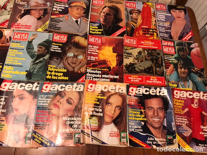 Coleccionismo de Revista Gaceta Ilustrada: Lote de 43 revistas Gaceta Ilustrada 1980y regalo Interviu - Foto 2 - 223840756