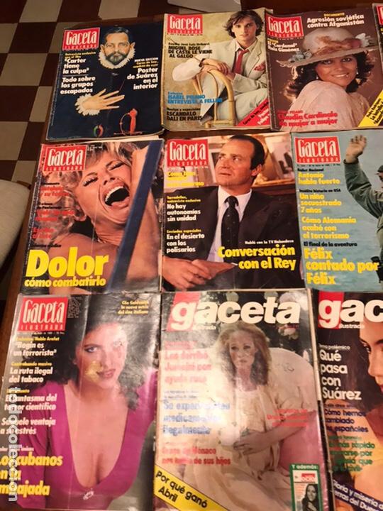 Coleccionismo de Revista Gaceta Ilustrada: Lote de 43 revistas Gaceta Ilustrada 1980y regalo Interviu - Foto 3 - 223840756