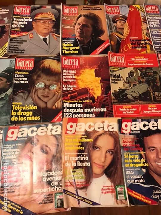 Coleccionismo de Revista Gaceta Ilustrada: Lote de 43 revistas Gaceta Ilustrada 1980y regalo Interviu - Foto 4 - 223840756