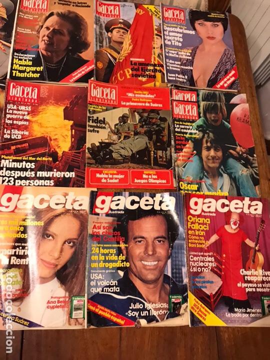 Coleccionismo de Revista Gaceta Ilustrada: Lote de 43 revistas Gaceta Ilustrada 1980y regalo Interviu - Foto 5 - 223840756