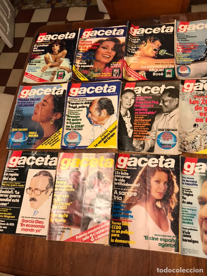 Coleccionismo de Revista Gaceta Ilustrada: Lote de 43 revistas Gaceta Ilustrada 1980y regalo Interviu - Foto 7 - 223840756