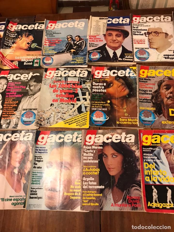 Coleccionismo de Revista Gaceta Ilustrada: Lote de 43 revistas Gaceta Ilustrada 1980y regalo Interviu - Foto 8 - 223840756