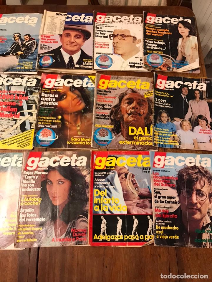 Coleccionismo de Revista Gaceta Ilustrada: Lote de 43 revistas Gaceta Ilustrada 1980y regalo Interviu - Foto 9 - 223840756