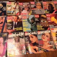 Coleccionismo de Revista Gaceta Ilustrada: LOTE DE 43 REVISTAS GACETA ILUSTRADA 1980Y REGALO INTERVIU. Lote 223840756