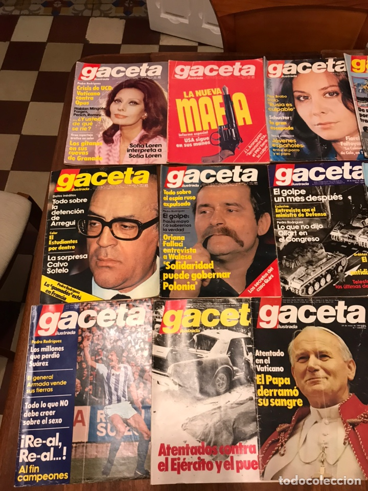 Coleccionismo de Revista Gaceta Ilustrada: Lote de 33 revista la Gaceta Ilustrada 1981y regalo - Foto 2 - 223844183