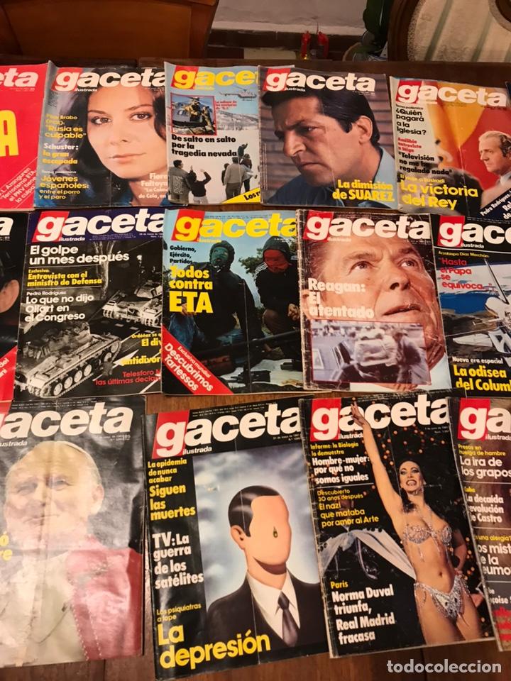 Coleccionismo de Revista Gaceta Ilustrada: Lote de 33 revista la Gaceta Ilustrada 1981y regalo - Foto 3 - 223844183