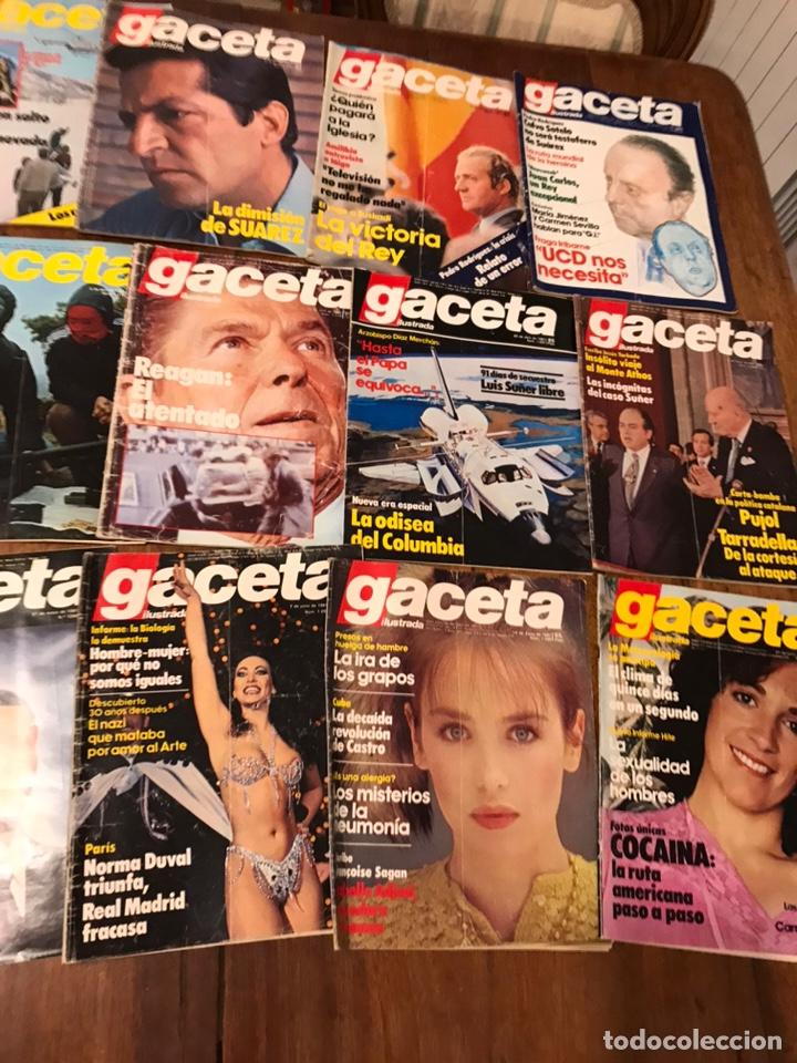 Coleccionismo de Revista Gaceta Ilustrada: Lote de 33 revista la Gaceta Ilustrada 1981y regalo - Foto 4 - 223844183