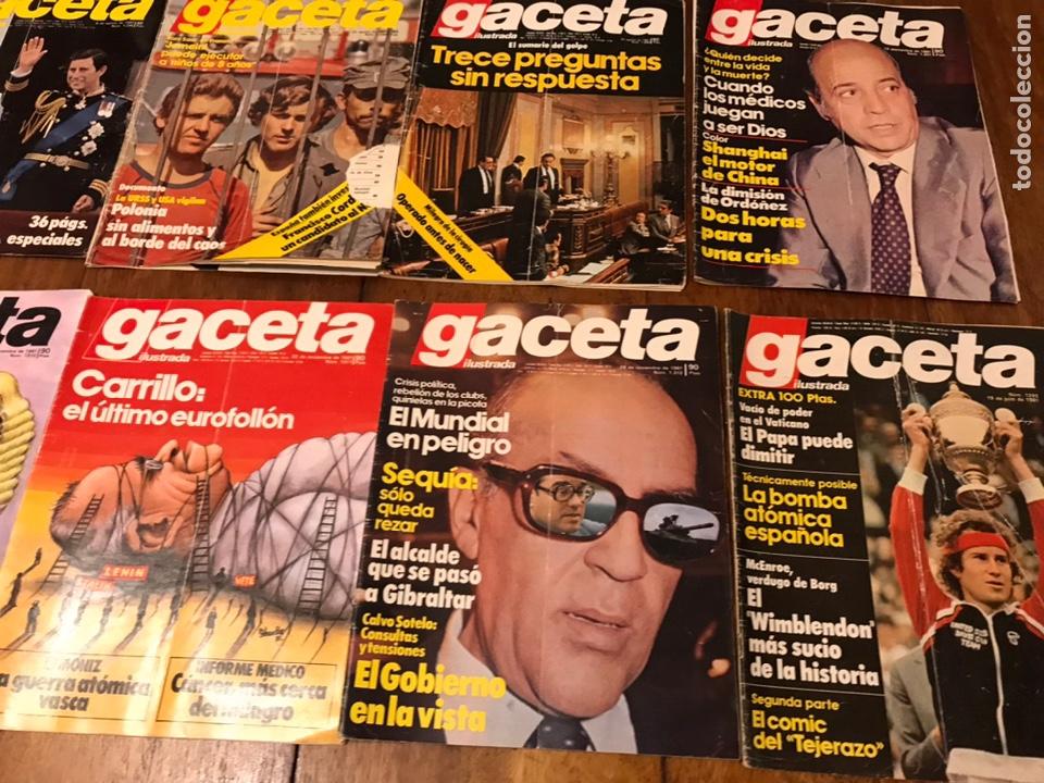 Coleccionismo de Revista Gaceta Ilustrada: Lote de 33 revista la Gaceta Ilustrada 1981y regalo - Foto 7 - 223844183