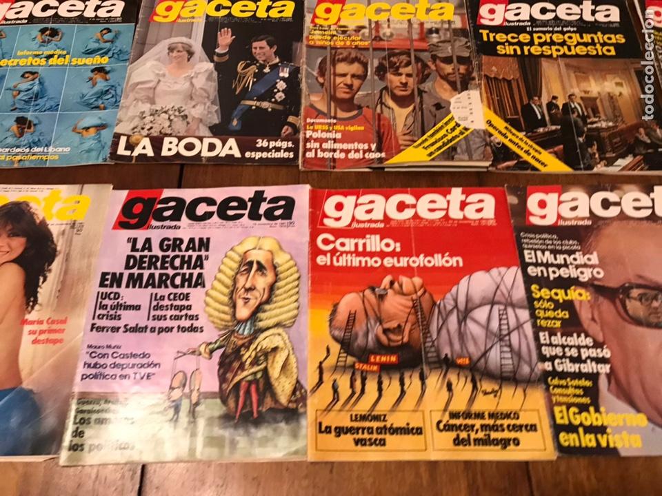 Coleccionismo de Revista Gaceta Ilustrada: Lote de 33 revista la Gaceta Ilustrada 1981y regalo - Foto 8 - 223844183