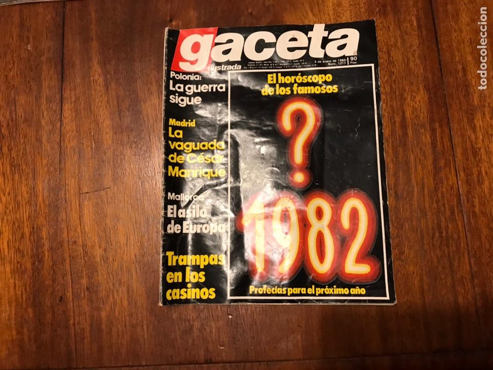 Coleccionismo de Revista Gaceta Ilustrada: Lote de 33 revista la Gaceta Ilustrada 1981y regalo - Foto 9 - 223844183