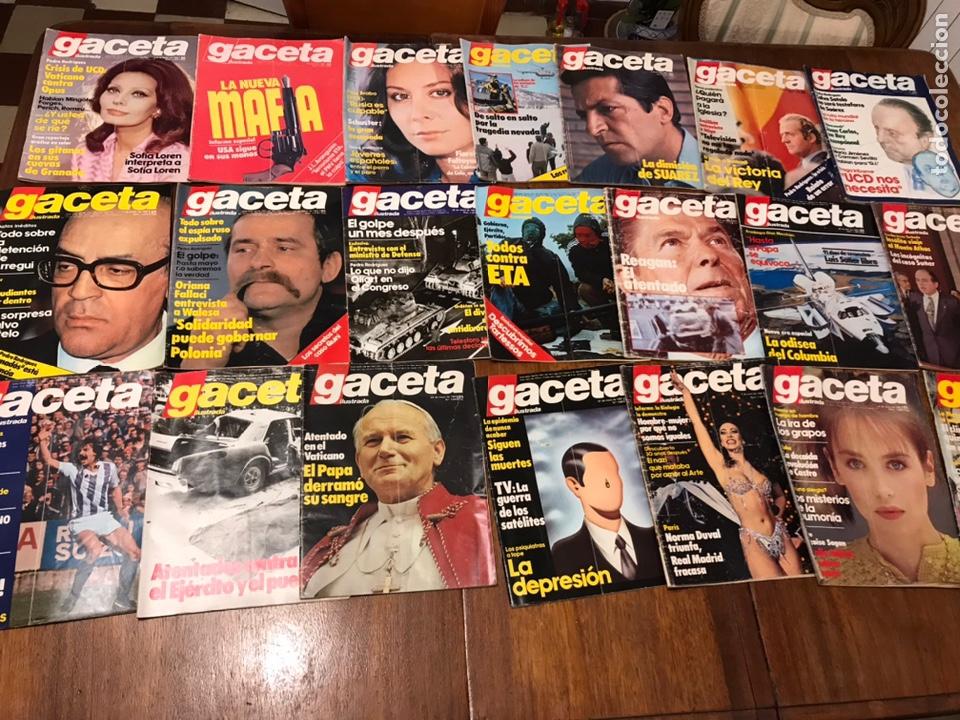 LOTE DE 33 REVISTA LA GACETA ILUSTRADA 1981Y REGALO (Coleccionismo - Revistas y Periódicos Modernos (a partir de 1.940) - Revista Gaceta Ilustrada)