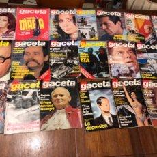 Coleccionismo de Revista Gaceta Ilustrada: LOTE DE 33 REVISTA LA GACETA ILUSTRADA 1981Y REGALO. Lote 223844183