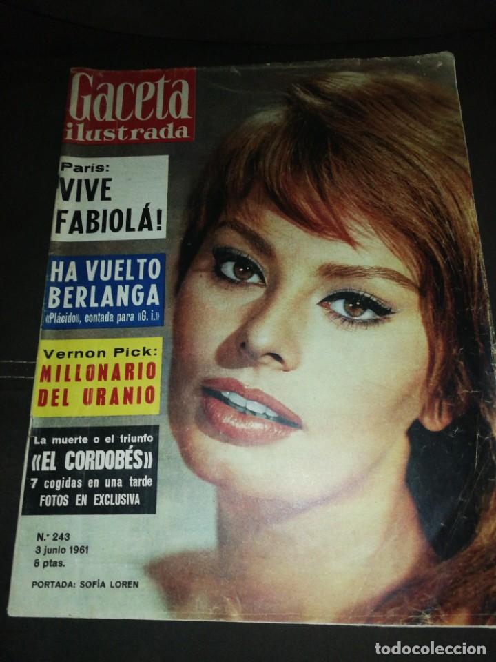 GACETA ILUSTRADA (1961)N°243 (Coleccionismo - Revistas y Periódicos Modernos (a partir de 1.940) - Revista Gaceta Ilustrada)