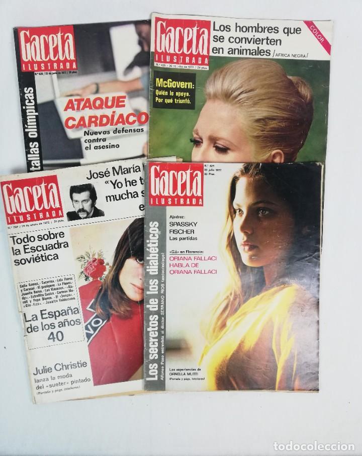 LOTE DE REVISTAS LA GACETA ILUSTRADA -1972- EN BUEN ESTADO (Coleccionismo - Revistas y Periódicos Modernos (a partir de 1.940) - Revista Gaceta Ilustrada)