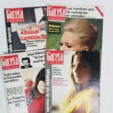 Coleccionismo de Revista Gaceta Ilustrada: LOTE DE REVISTAS LA GACETA ILUSTRADA -1972- EN BUEN ESTADO. Lote 224840662