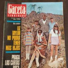 Coleccionismo de Revista Gaceta Ilustrada: LA GACETA ILUSTRADA N°617 / 4 AGOSTO 1968. ELIZABETH TAYLOR.. Lote 225257085