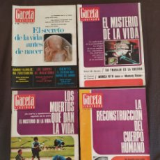 Coleccionismo de Revista Gaceta Ilustrada: LOTE 4 REVISTAS GACETA ILUSTRADA N° 500, 501, 502, 503 DE 1966.. Lote 225264355