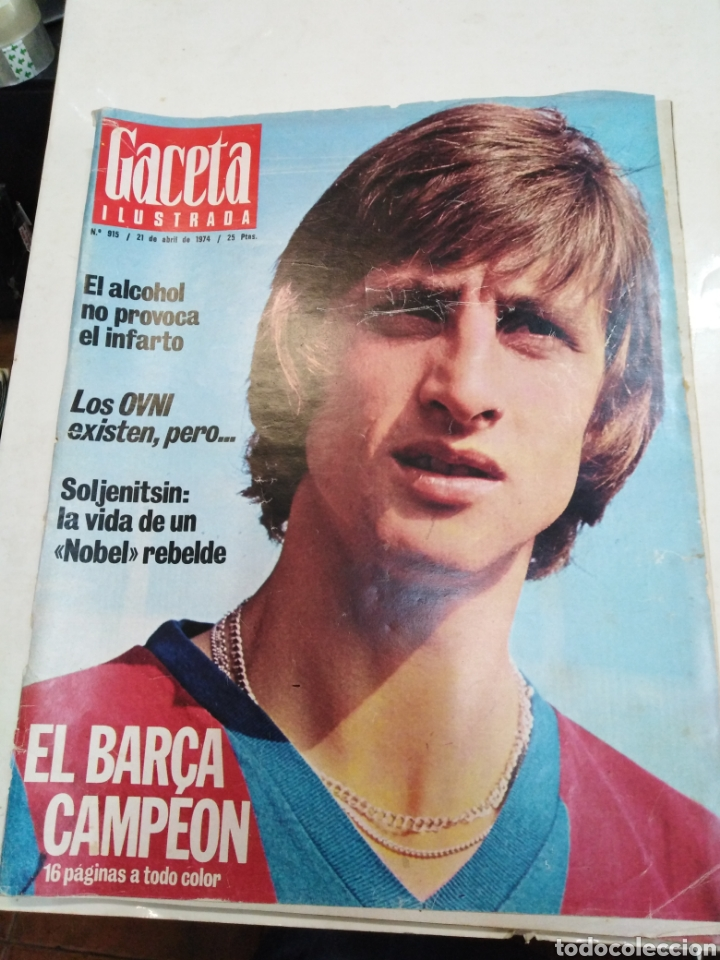 GACETA ILUSTRADA-EL BARSA CAMPEÓN - 16 PÁGINAS A TODO COLOR-N°915-21 ABRIL 1974 (Coleccionismo - Revistas y Periódicos Modernos (a partir de 1.940) - Revista Gaceta Ilustrada)