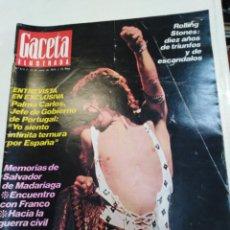 Coleccionismo de Revista Gaceta Ilustrada: GACETA ILUSTRADA-ROLLING STONES DÍEZ AÑOS DE TRIUNFOS Y ESCANDALOS-N°924-23 JUNIO 1974. Lote 226271655