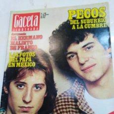 Coleccionismo de Revista Gaceta Ilustrada: GACETA ILUSTRADA-PECOS DEL SUBURBIO A LA CUMBRE-N°1166-11 FEBRERO 1979. Lote 226272190
