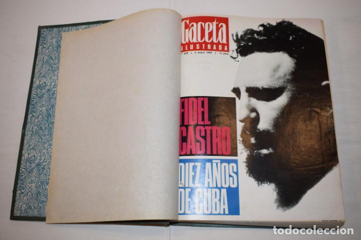 Coleccionismo de Revista Gaceta Ilustrada: TOMO ENCUADERNADO DE 14 REVISTAS * GACETA ILUSTRADA * AÑO 1969 - COMPLETAS Y EN BUEN ESTADO - Foto 6 - 226828675