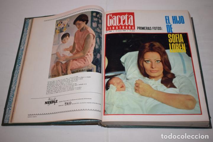 Coleccionismo de Revista Gaceta Ilustrada: TOMO ENCUADERNADO DE 14 REVISTAS * GACETA ILUSTRADA * AÑO 1969 - COMPLETAS Y EN BUEN ESTADO - Foto 7 - 226828675