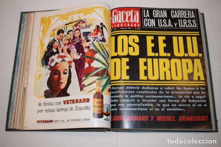 Coleccionismo de Revista Gaceta Ilustrada: TOMO ENCUADERNADO DE 14 REVISTAS * GACETA ILUSTRADA * AÑO 1969 - COMPLETAS Y EN BUEN ESTADO - Foto 10 - 226828675