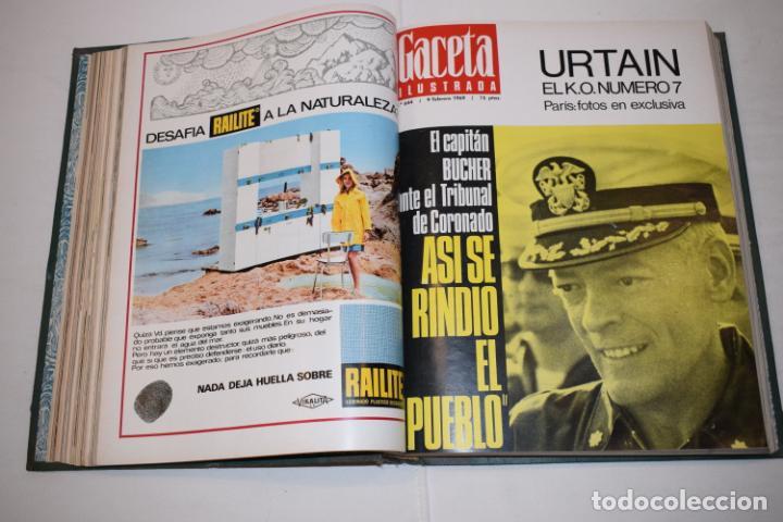 Coleccionismo de Revista Gaceta Ilustrada: TOMO ENCUADERNADO DE 14 REVISTAS * GACETA ILUSTRADA * AÑO 1969 - COMPLETAS Y EN BUEN ESTADO - Foto 11 - 226828675