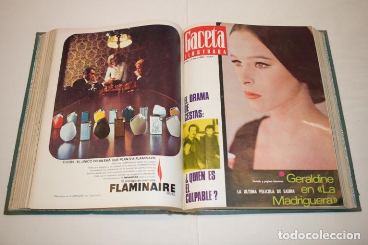 Coleccionismo de Revista Gaceta Ilustrada: TOMO ENCUADERNADO DE 14 REVISTAS * GACETA ILUSTRADA * AÑO 1969 - COMPLETAS Y EN BUEN ESTADO - Foto 14 - 226828675