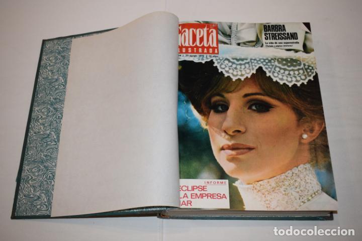 Coleccionismo de Revista Gaceta Ilustrada: TOMO ENCUADERNADO DE 15 REVISTAS * GACETA ILUSTRADA * AÑO 1970 - COMPLETAS Y EN BUEN ESTADO - Foto 6 - 226830030