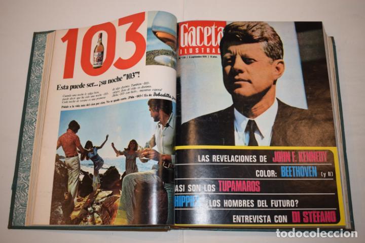 Coleccionismo de Revista Gaceta Ilustrada: TOMO ENCUADERNADO DE 15 REVISTAS * GACETA ILUSTRADA * AÑO 1970 - COMPLETAS Y EN BUEN ESTADO - Foto 8 - 226830030