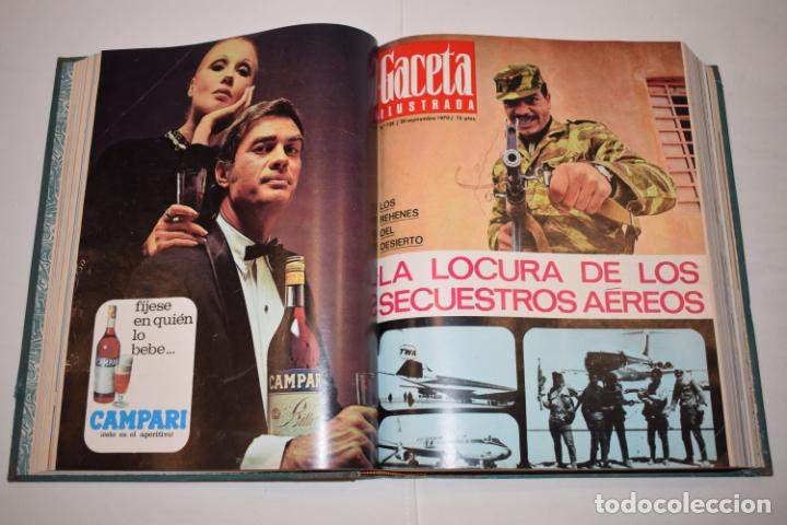 Coleccionismo de Revista Gaceta Ilustrada: TOMO ENCUADERNADO DE 15 REVISTAS * GACETA ILUSTRADA * AÑO 1970 - COMPLETAS Y EN BUEN ESTADO - Foto 10 - 226830030