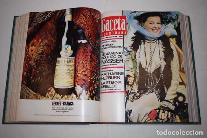 Coleccionismo de Revista Gaceta Ilustrada: TOMO ENCUADERNADO DE 15 REVISTAS * GACETA ILUSTRADA * AÑO 1970 - COMPLETAS Y EN BUEN ESTADO - Foto 14 - 226830030