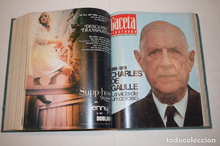 Coleccionismo de Revista Gaceta Ilustrada: TOMO ENCUADERNADO DE 15 REVISTAS * GACETA ILUSTRADA * AÑO 1970 - COMPLETAS Y EN BUEN ESTADO - Foto 19 - 226830030