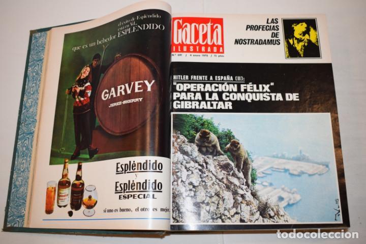 Coleccionismo de Revista Gaceta Ilustrada: TOMO ENCUADERNADO DE 15 REVISTAS * GACETA ILUSTRADA * AÑO 1969 - COMPLETAS Y EN BUEN ESTADO - Foto 7 - 226831040