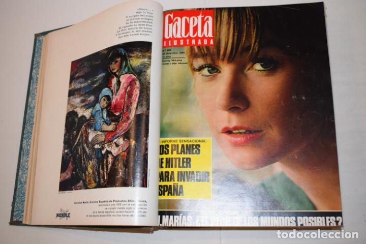 Coleccionismo de Revista Gaceta Ilustrada: TOMO ENCUADERNADO DE 15 REVISTAS * GACETA ILUSTRADA * AÑO 1969 - COMPLETAS Y EN BUEN ESTADO - Foto 8 - 226831040
