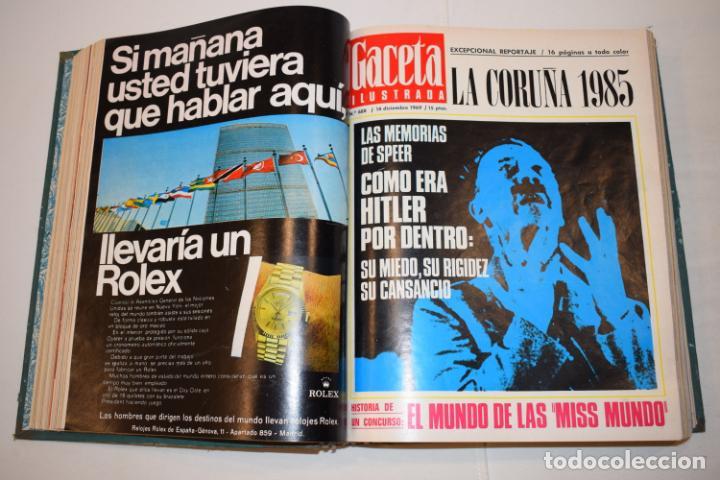 Coleccionismo de Revista Gaceta Ilustrada: TOMO ENCUADERNADO DE 15 REVISTAS * GACETA ILUSTRADA * AÑO 1969 - COMPLETAS Y EN BUEN ESTADO - Foto 10 - 226831040
