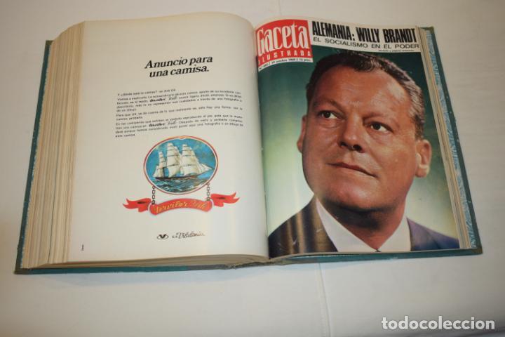 Coleccionismo de Revista Gaceta Ilustrada: TOMO ENCUADERNADO DE 15 REVISTAS * GACETA ILUSTRADA * AÑO 1969 - COMPLETAS Y EN BUEN ESTADO - Foto 18 - 226831040